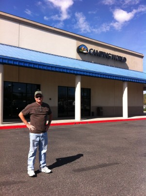 Kevin in front of Camping World San Marcos