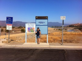 Janet at Lake Elsinore Levee