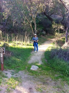 Kevin on the trails. The trails are well maintained.