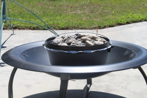 Dutch oven in our new firepit