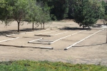 The remote control car track and beside it is a dirt area we saw kids and parents playing with their cars.