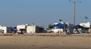 View of campground from the beach area