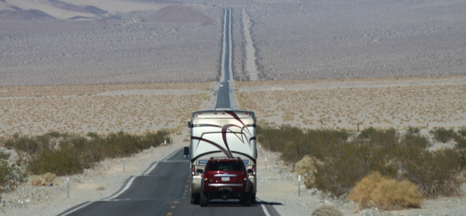 On the road to Death Valley National Park.
