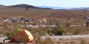 Dry camping at Red Rock Canyon for tents & RV's. Also, walking trails, rock climibing, jeep trails