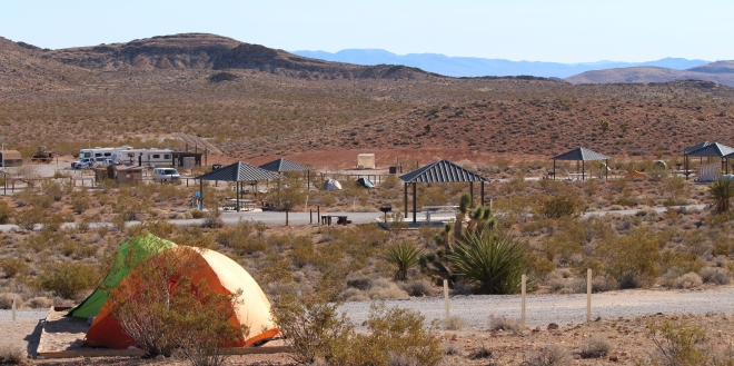 Dry camping at Red Rock Canyon for tents & RV's