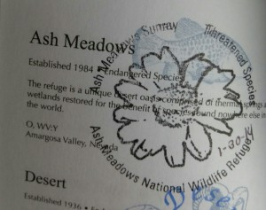 Ash Meadow Wildlife Refuge Stamp in Nevada