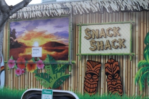 Snack Shack is sometimes a social mecca for campers