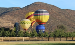 I woke up to these balloon being blown up near the campground. It was a awesome sight to hear and see these big balloons being blown up.