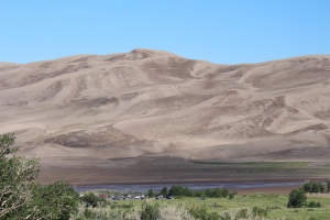 Great Sands National Park - slidding down the sand dunes is done here just like in White Sand New Mexico