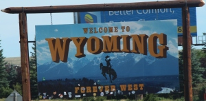 Wyoming is filled with blue skies and lovely views.