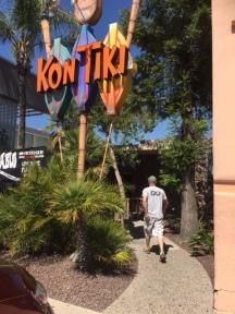 Kevin walking into Kon Tiki