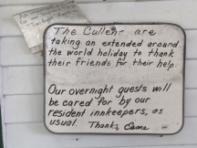 A letter on a bed & breakfast in Forks