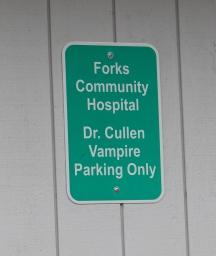 Forks Hospital Sign