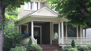 the front door view