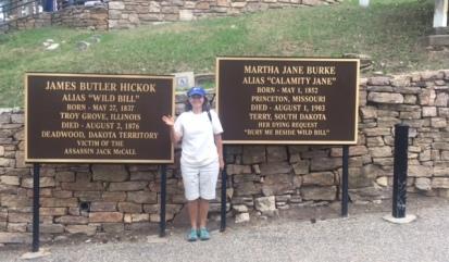 Me at Calamity Jane & Wild Bill's Burial Spot