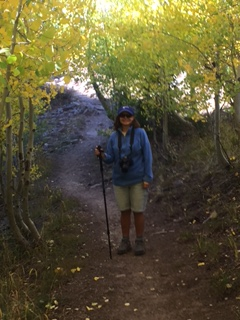 Janet on the trail