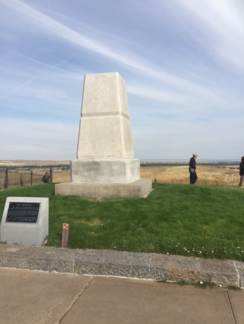 Memorial on Last Stand Hill