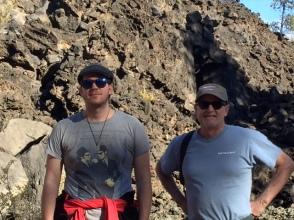 Kris & Kevin at Sunset Crater NM