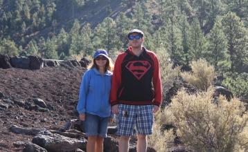 Me & Kris at Sunset Crater NM