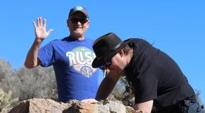 The guys geocaching