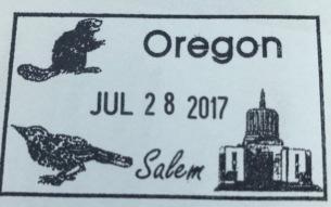 Oregon State Capital Stamp